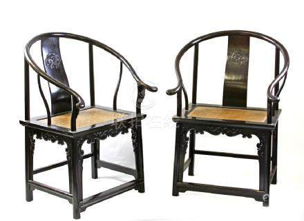 Pair of Chinese Arm Chairs