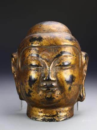 Chinese Antique Gilt Buddha Mask