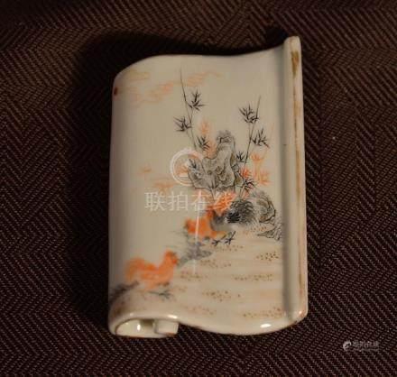 Chinese Scholar Porcelain Brush Rest
