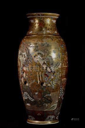 Large Japanese Satsuma Palace Vase
