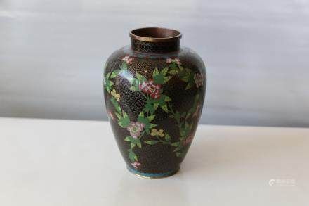 A chinese cloisonne jar