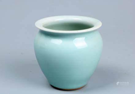 A chinese blue glaze jar