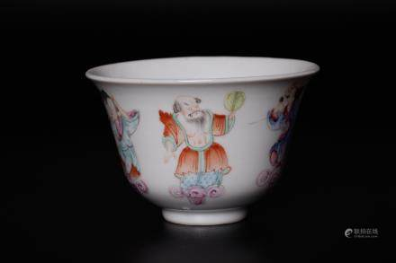 Chinese 18 century famille rose cup