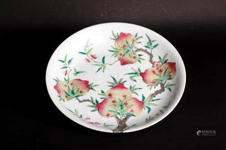 Chinese 18 century famille rose plate mark