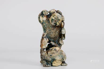 A chinese bone statue
