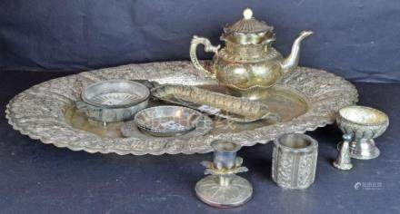 Qty of Asian Silver Wares, 11pcs