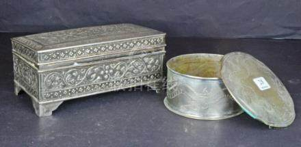 Two Asian Silver Boxes