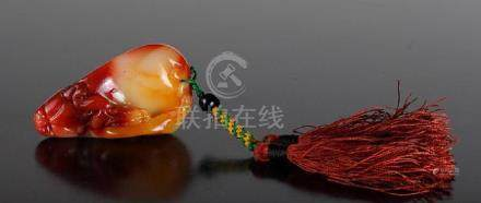 Chinese Carved Fu rong Pendant