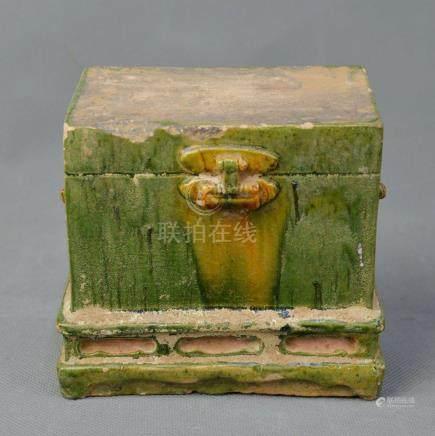 A Tri-color Glazed Box