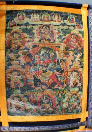A Tang Ka from 16C in silk