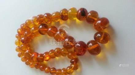 ANTIQUE BUG AMBER necklace