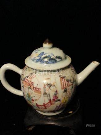 """""""ANTIQUE Chinese Famille Rose Teapot  early 18th"""""""