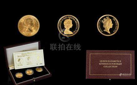 Royal Mint - Ltd and Numbered Edition Queen Elizabeth II Sovereign Portrait Collection. Consists