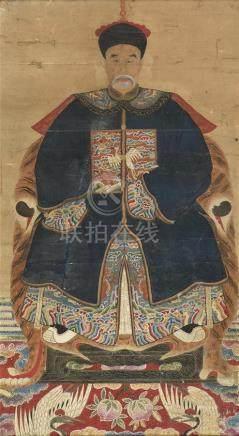 CHINE - Vers 1900 Encre et couleurs sur papier