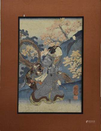 JAPON - XIXe - XXe siècle Courtisane