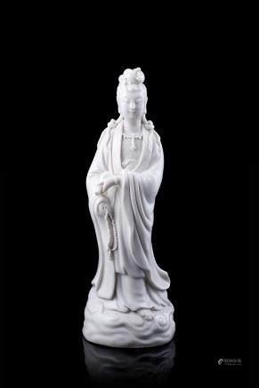 中國 二十世紀 德化瓷觀音立像