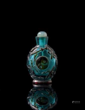 中國 二十世紀 玻璃鼻菸壺