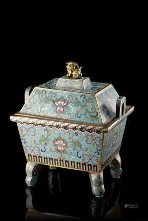 中國 二十世紀 景泰藍方香爐