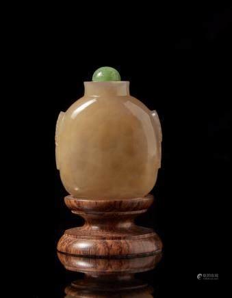 中國 二十世紀 玉髓雕鼻菸壺