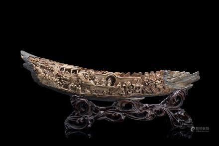 中國 二十世紀初 象牙雕人物場景羣像