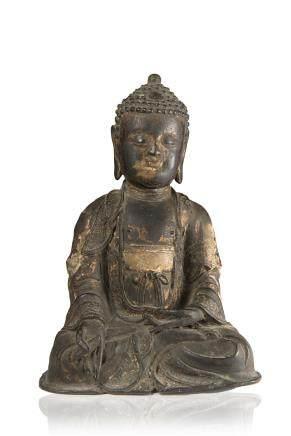 明 鎏金銅雕佛像