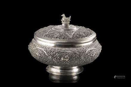 緬甸 二十世紀 銀盒