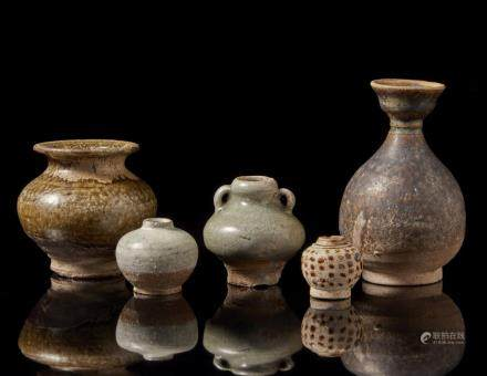 中國 陶瓶 五件