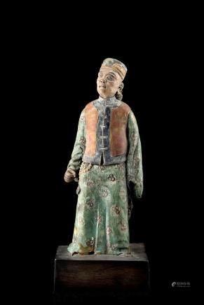 中國 十八世紀 陶瓷人物立像