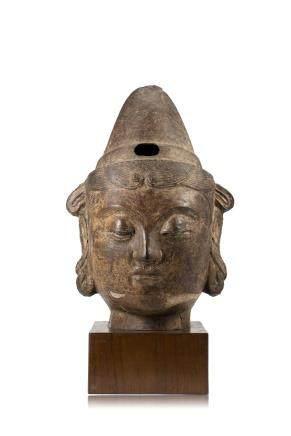 中國 十七世紀 鐵製觀音首像
