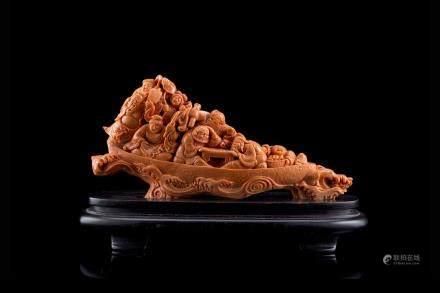 中國 二十世紀初 珊瑚雕八仙過海