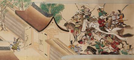 日本 二十世紀 源氏物語畫卷 設色紙本