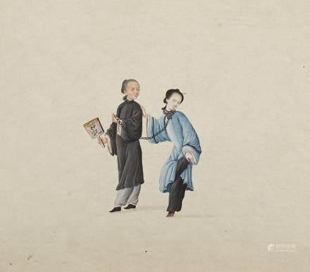 中國 十九世紀 酷刑畫 設色紙本 二十四件