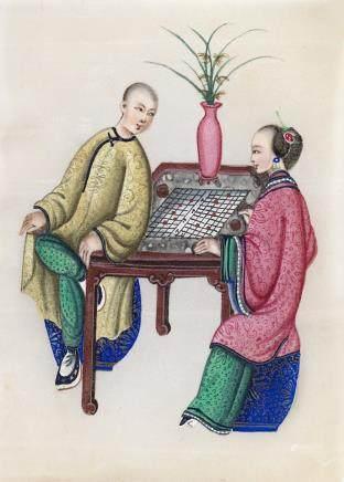 中國 十九世紀 紙及宣紙人物畫 二十五件
