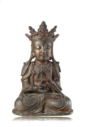 明 鎏金漆銅佛像