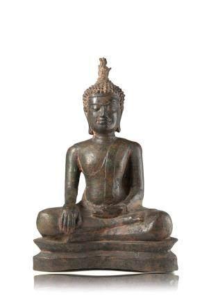 明 銅雕佛像