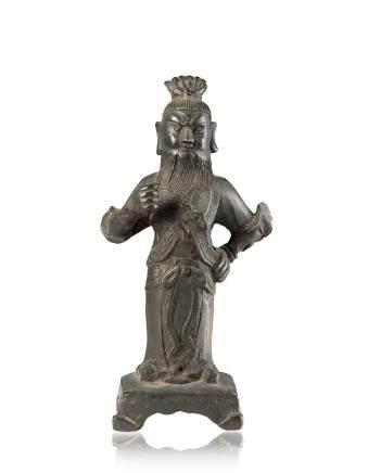 明 十七世紀 銅雕戰士立像