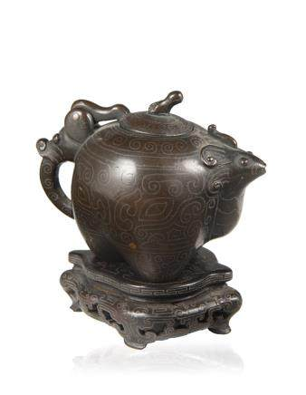 明 古獸形銅壺