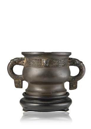 明 十七世紀 銅簋式爐