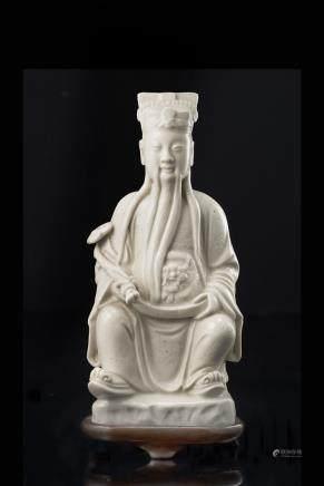 中國 十九世紀 德化瓷皇帝雕像