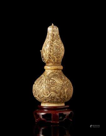 中國 二十世紀 象牙葫蘆瓶