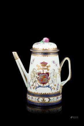 中國 十八世紀 出口瓷咖啡壺