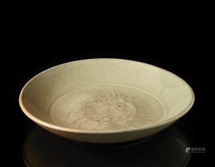 明 青釉盤