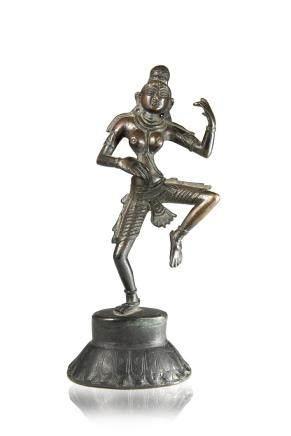 東南亞 十九世紀 銅雕舞動神像