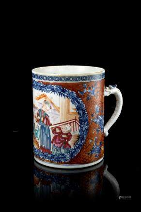 清 乾隆 貴族生活式樣出口瓷杯