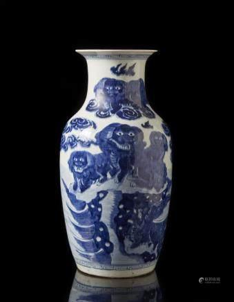 中國 二十世紀 青花瓷瓶