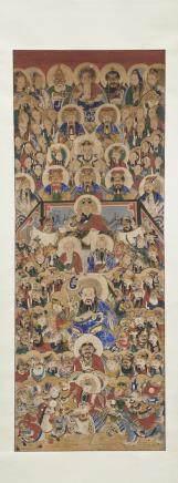 中國 二十世紀 人物畫 設色紙本
