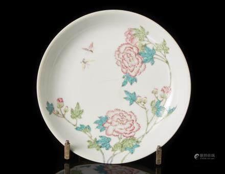 中國 二十世紀 雍正仿款 粉彩花卉紋盤
