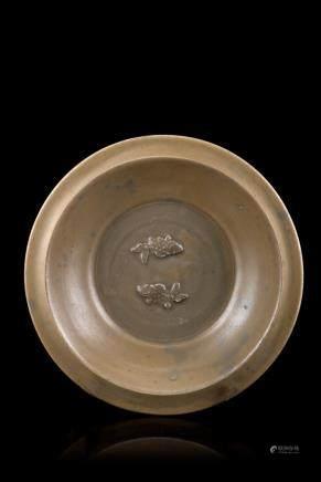 明 陶瓷魚紋盤