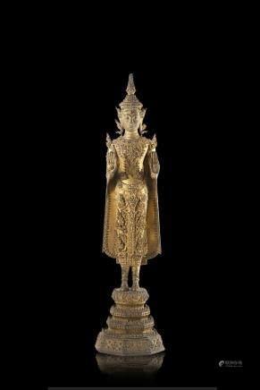 泰國 十九/二十世紀 鎏金銅佛像