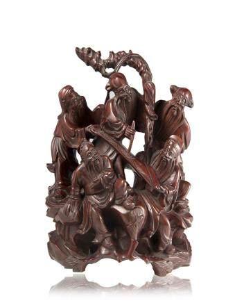 中國 二十世紀初 木雕聖人像